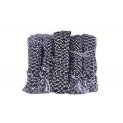 Резинка для белья 5м простроченая черная Зебра (800) (в уп 10шт)