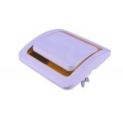 Выключатель MAKEL внутренний одинарный (белый золотой ободок)(10)(200)