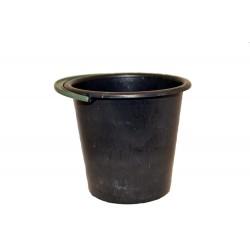 Ведро пластмассовое, 10л черное 4 сорт