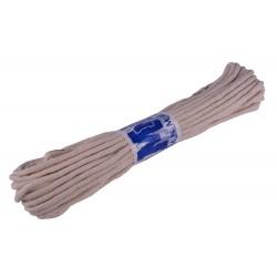 Веревка Белая Х/Б  4мм*15м плетеная ПЛ/ХБ-4  ПЯТЕРКА (5)(100)