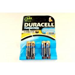 Батарейки LR03 DURACELL 4 шт (40 шт)  2 СОРТ (960)