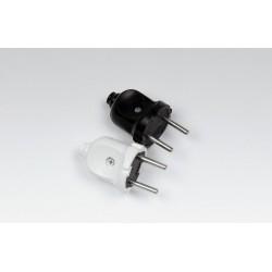 Вилка  электрическая  Колокольчик с черной вставкой10А S302 (20)